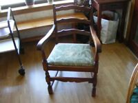 Victorian solid oak chair for sale