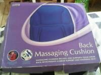 Heat vibration back massage cushion