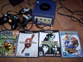 Nintendo Gamecube with 4 games etc