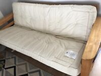 Next sofa bed, wooden frame, good used condition!
