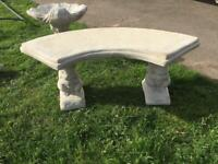 Concrete Curved Squirrel Bench (NEW)
