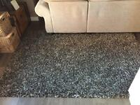 Beautiful giant Rug for sale 240x190 in grey flec paid 140 new in good condition