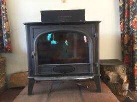 Stovax Stockton 2 flat top rear flue wood burning stove 11 Kw year made 2013