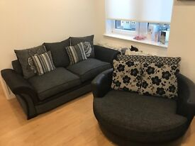 Sofa brand new from scs and large cuddle chair