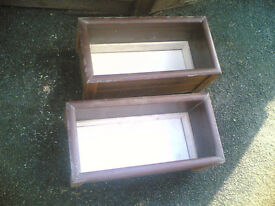 Handmade Garden Planters (two pairs)