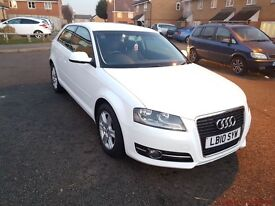 AUDI A3 SE TDi 1.6 3dr DIESEL 2010 Manual Hatchback warranted mileage, with Services history