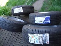 4 x16 GENUINE MERCEDES AlLOY WHEELS ANDNEW TYRES WILL FIT VITO/VIANO/VWT4
