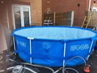12ft 12x48 extra deep framed swimming pool 48