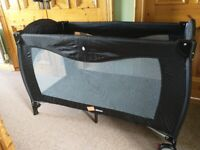 Large Babyway travel cot with bassinet / changing station and folding mattress
