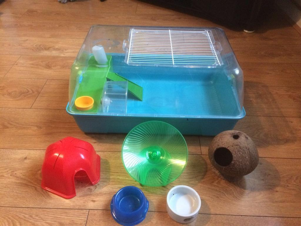 HAMSTER CAGE COMPLETE WITH ACCESSORIES. FALLOWFIELD MANCHESTER