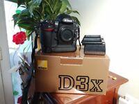 Professional Nikon D3x digital Camera 24 million pixels amazing quaility Just been serviced