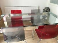 Dining table and 4 chairs from John Lewis. Urgent sale - available until 19th August