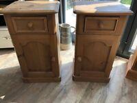 Antique Pine Bedside tables (x2)