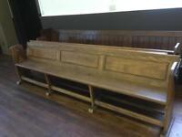 10ft oak church pews