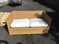 Wicker 2 seater sofa