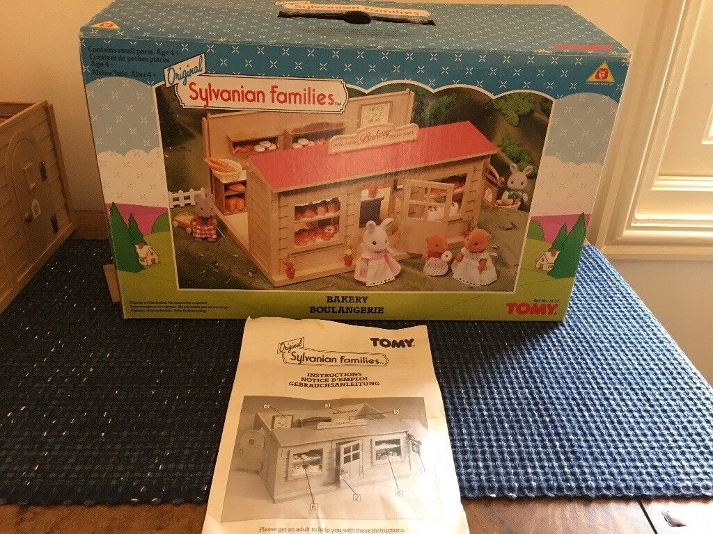 Sylvanian Family Bakery Vintage 1988 1992 Excellent