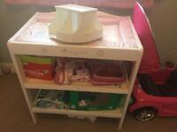 Changing table and spinning organiser
