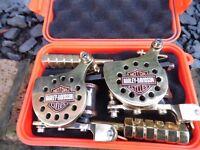PRO HAND BUILT HARLEY DAVIDSON TATTOO MACHINES HAND WOUND COILS, LINER & SHADER