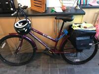 Ladies bike and accessories - excellent condition