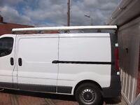 Van Pipe Tube Carrier 3m Aero-Tech. Fits all roof bars including Vivaro, Rhino etc