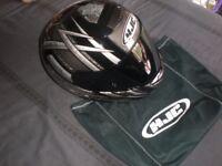 HJC MOTORBIKE HELMET NEW IN BAG MOTORCYCLE HELMET BLACK VISOR LTD ED