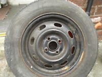 a tyre on steel rim 195 x 60 r14