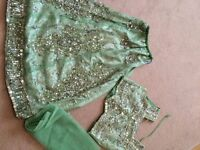 Indian girls lengha light green size 24 (Age 4/5)