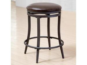 Crown Mark David Counter Height Swivel Stool with Metal Base NEW