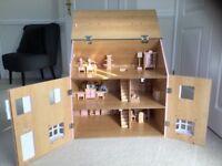 John Lewis Solid Wood DOLLS HOUSE