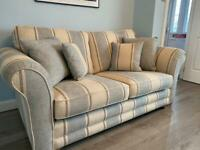 Fabric suite 3 seater 2 chairs footstool