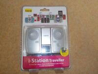 Boxed,unused Logic 3 i-station Traveller speakers for an Apple device
