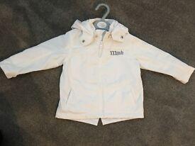 Mitch & Son toddler boys white parka jacket size 18 months