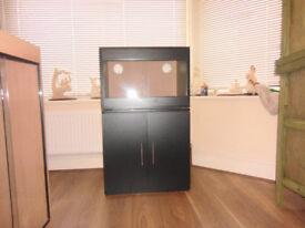 brand new 2ft vivarium and cabinet in black