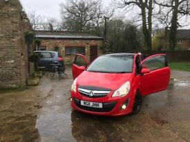 2011 vauxhall Corsa Limited edition with black roof