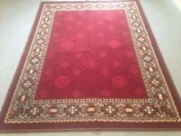 Modern Large Persian Rug Size 160cm x 120cm Mainly Red in Colour VGC