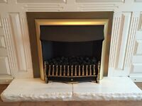BRASS FEATURE FIREPLACE