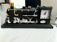 NEW IN BOX NOVELTY TRAIN ALARM CLOCK MAKES TRAIN NOISES WHEN ALARM GOES OFF