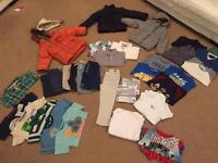 Large bundle of Boys 2-3 year old clothes- cardigan, coats, shorts, trousers, t-shirts, tops etc