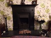 Black Cast Iron Fireplace Surround Only For Sale