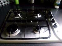 Indesit gas 4 burner hob in silver