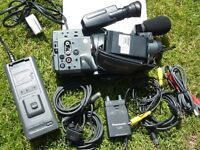 PANASONIC NV-MS70 VIDEO CAMCORDER WITH BATTERY, CHARGER, RF ADAPTER, LEADS etc.