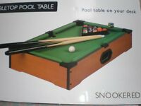 NEW DESK TOP POOL/SNOOKER TABLE