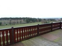 South Facing lodge for sale overlooking the golf course at Percy Wood Country Park, Northumberland