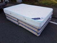 Double divan bad with two drawers