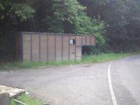 Horsebox back, make instant stable/tack room , workshop lockup or decent solid shed. Buyer collects