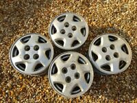 Nissan 14 x 6 inch alloy wheels - taken from Primera GT, will fit Almera and early 200SX