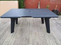 Allibert Dante Outdoor Dining Table - Graphite