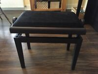 Gewa Adjustable Piano Bench / Stool in Rosewood with Black Top BRAND NEW