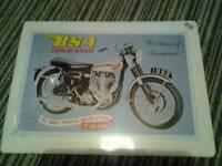Bsa gold star wall plaque unopened