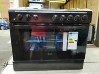 Brand New Black 90cm. Swan 5 Gas Burners And Single Oven Range Cooker